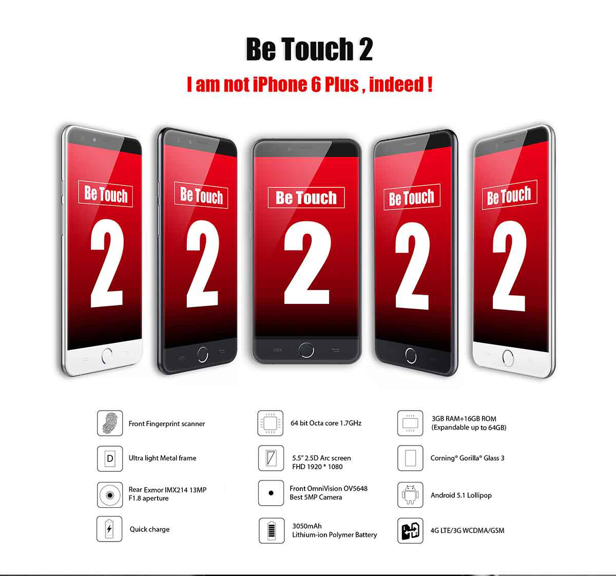 Ulefone be touch 2 1